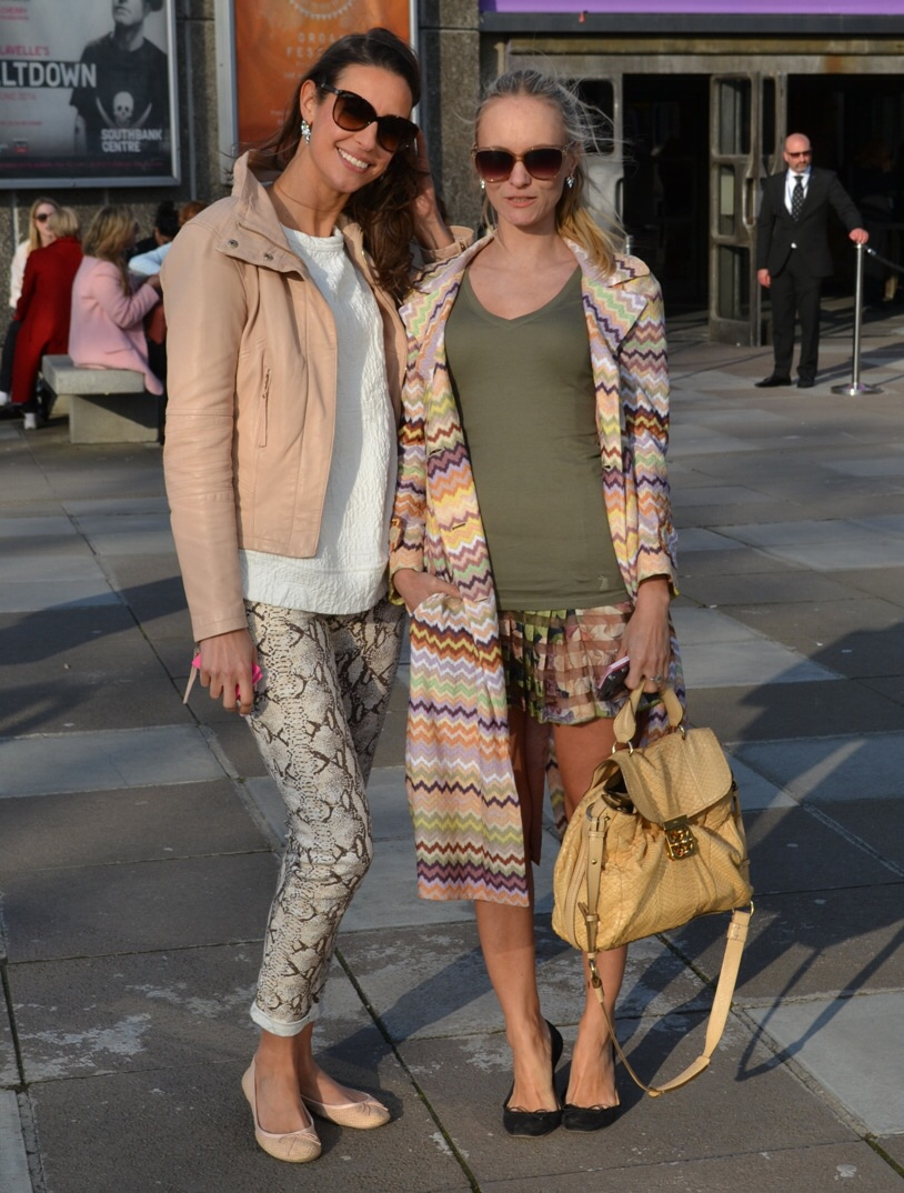 Street style London Vogue Festival Missoni Coat, snakeprint trousers Zara