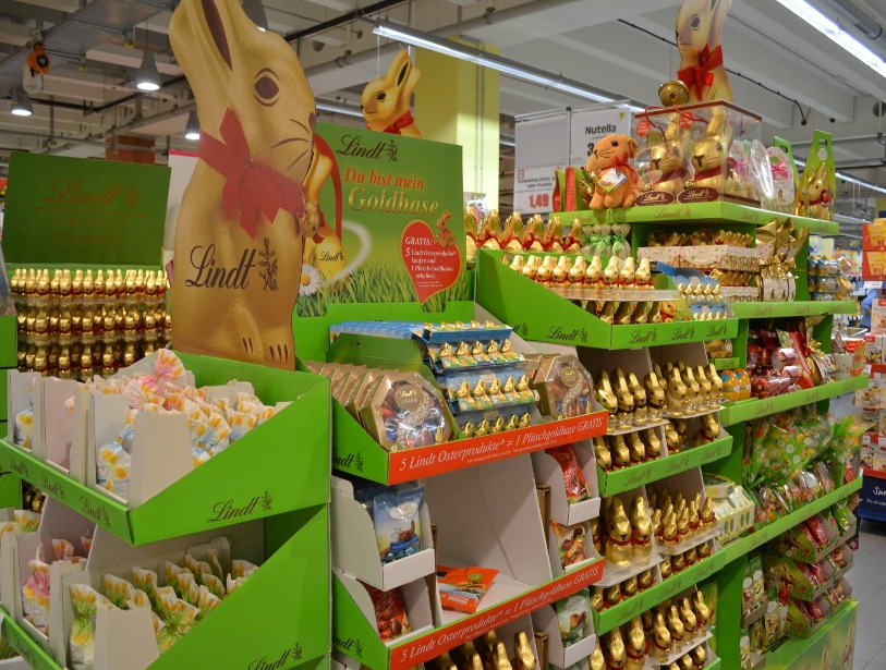 Germany super market easter chocolate