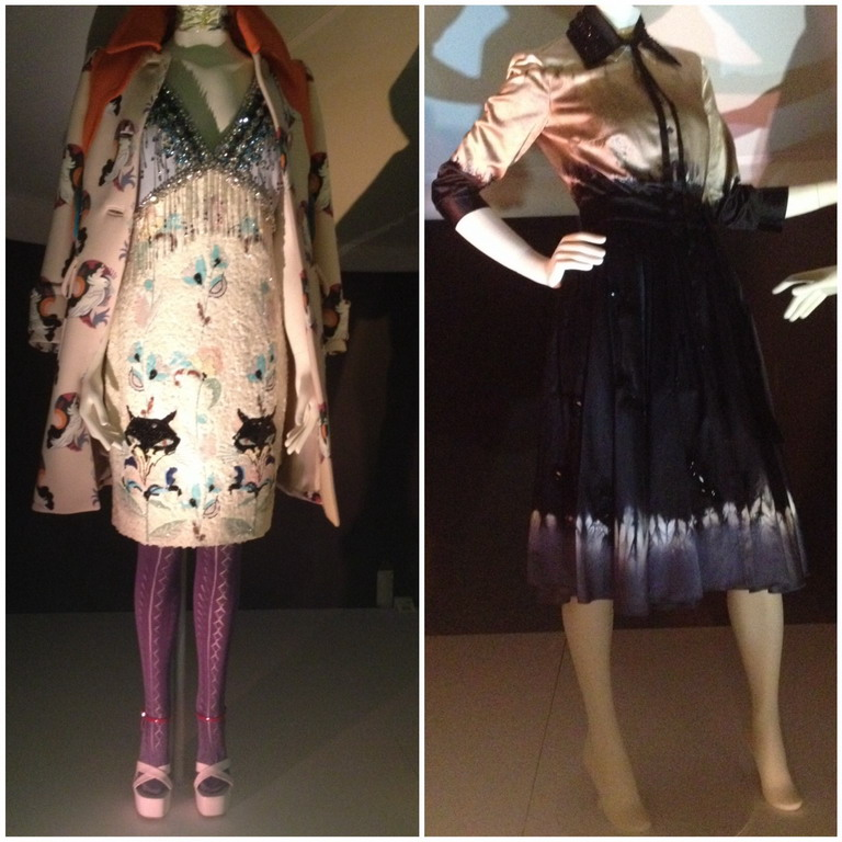 Exhibition VandA Museum London Italian Glamour 1945-2014 Dress Miu Miu and Prada Dip Dye