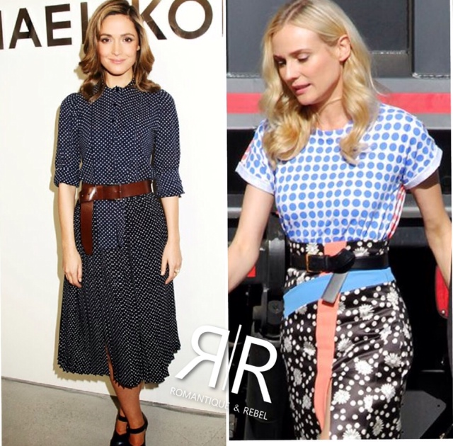 Style inspiration from Rose Byrne in Michael Kors and Diane Kruger in Ungaro.