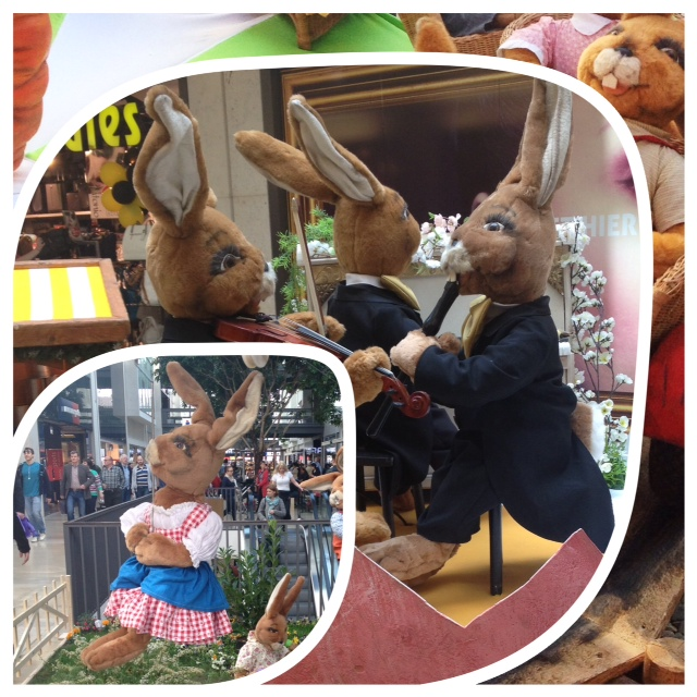 Easter Rabbit Decoration at Boulevard Centre Berlin