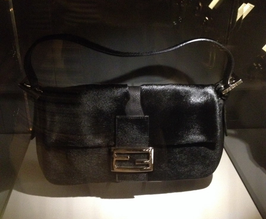 "VandA exhibition ""The Glamour of Italian Fashion 1945 - 2014"" - Fendi Baguette Bag"