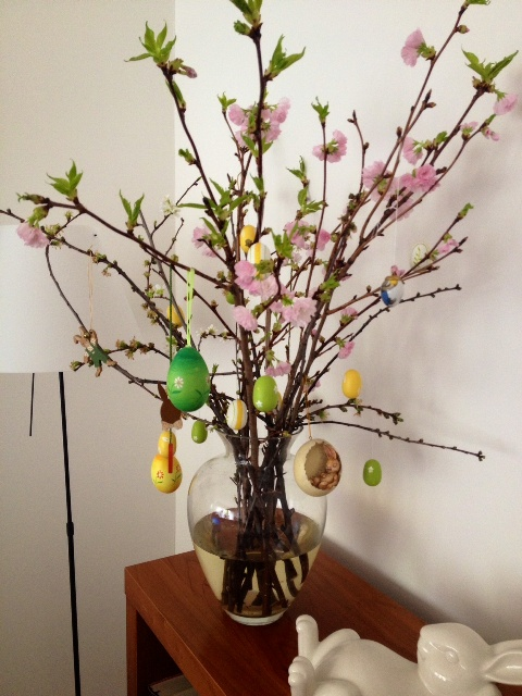 Easter  decor ranches with ornaments
