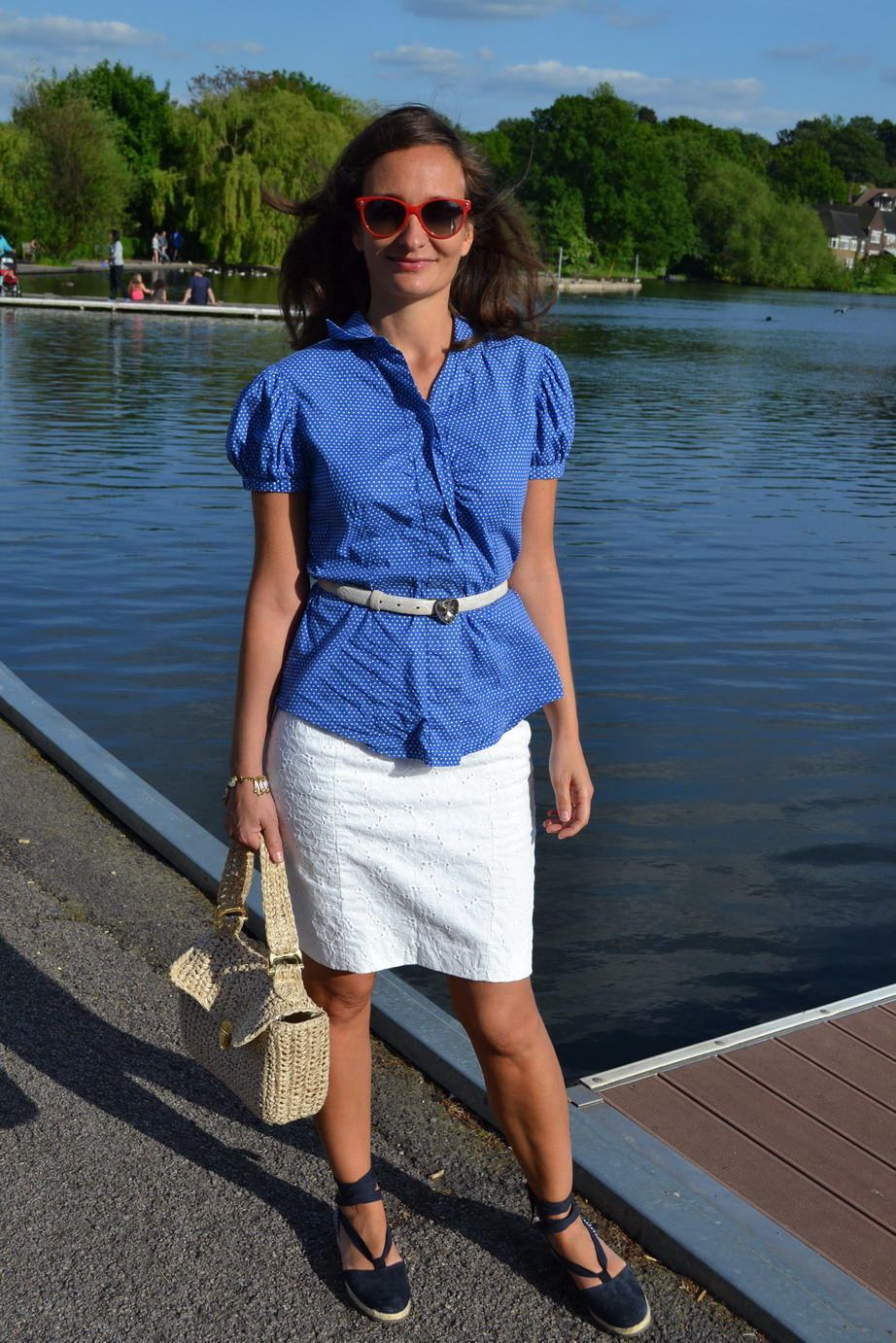 French weeks, blue white and red outfit