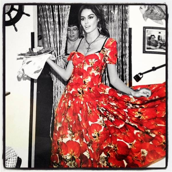 Dolce and Gabbana Tomato Dress