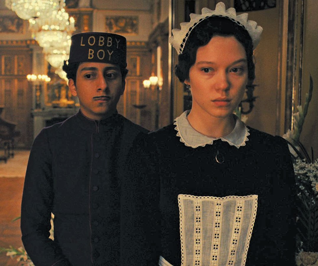Lea Seydoux in the movie 'Grand Hotel Budapest'