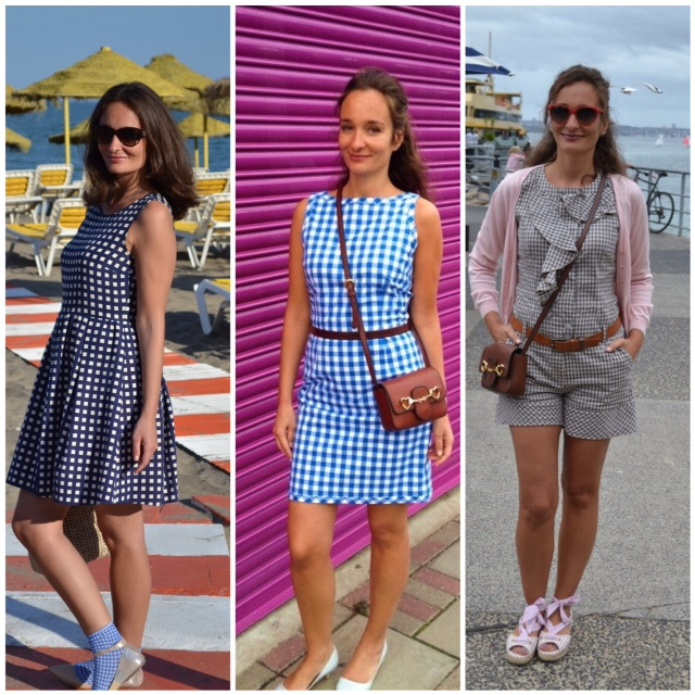 I love gingham / Vichy. I own many dresses, trousers, tops and a playsuit with the whimsical geometric pattern. It suits me so why should I not wear it in all ways? :-)