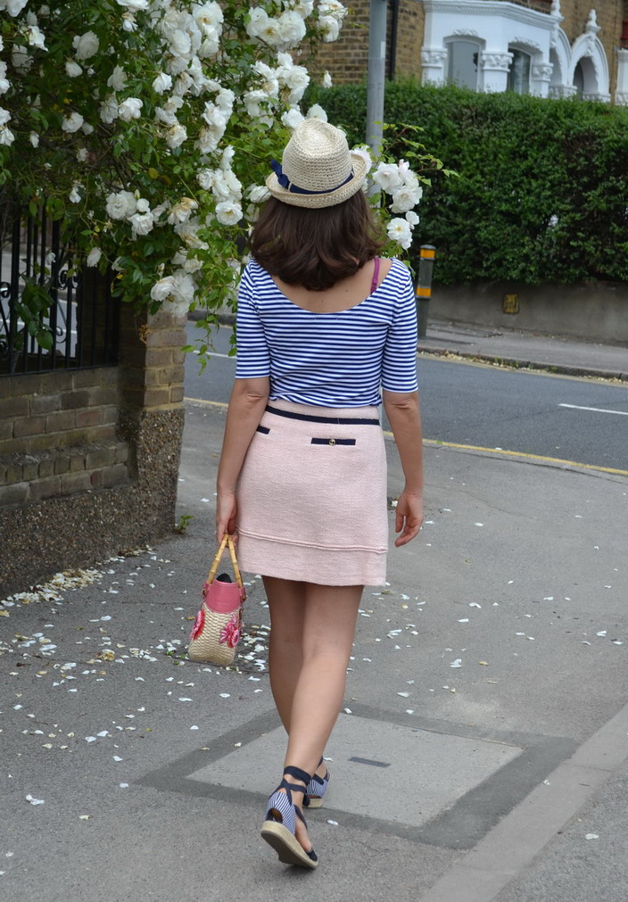 Panama fedora hat london street style miu miu straw bag