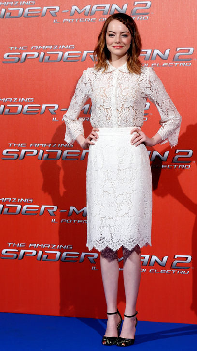 Emma Stone Lace Dress Dolce & Gabbana