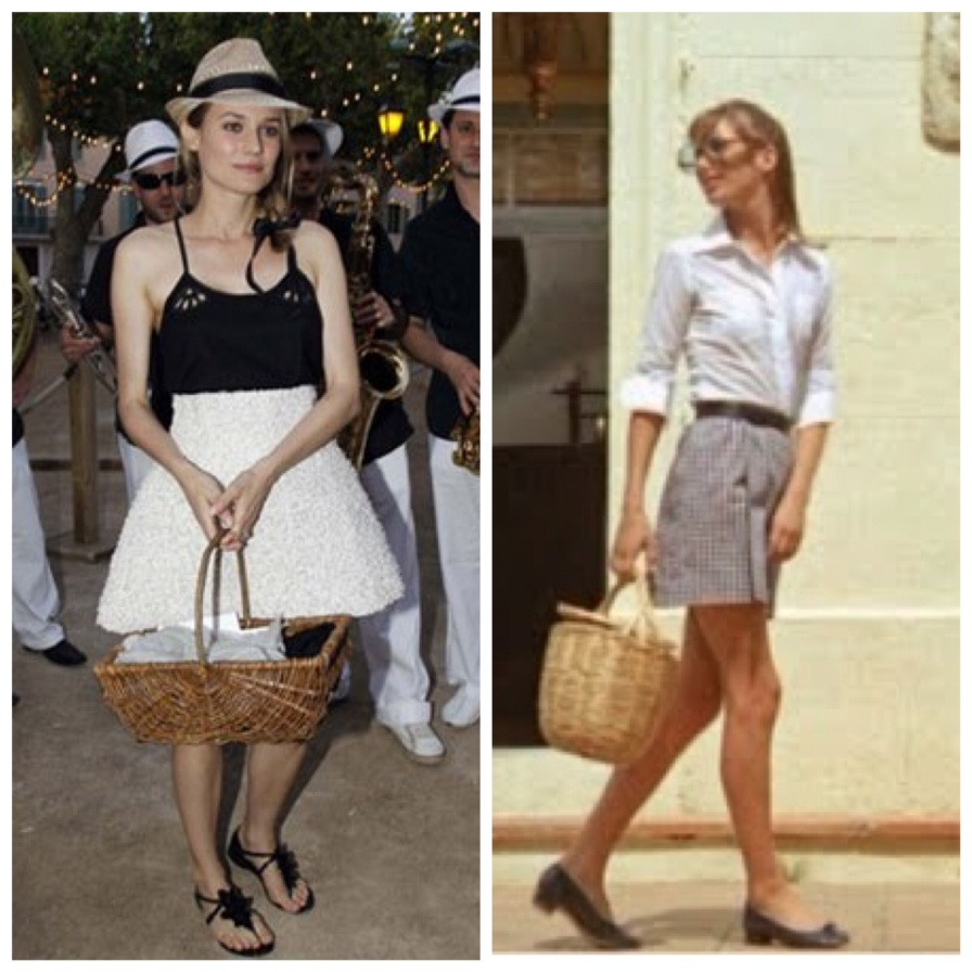 straw bag Diane Kruger Jane Birkin