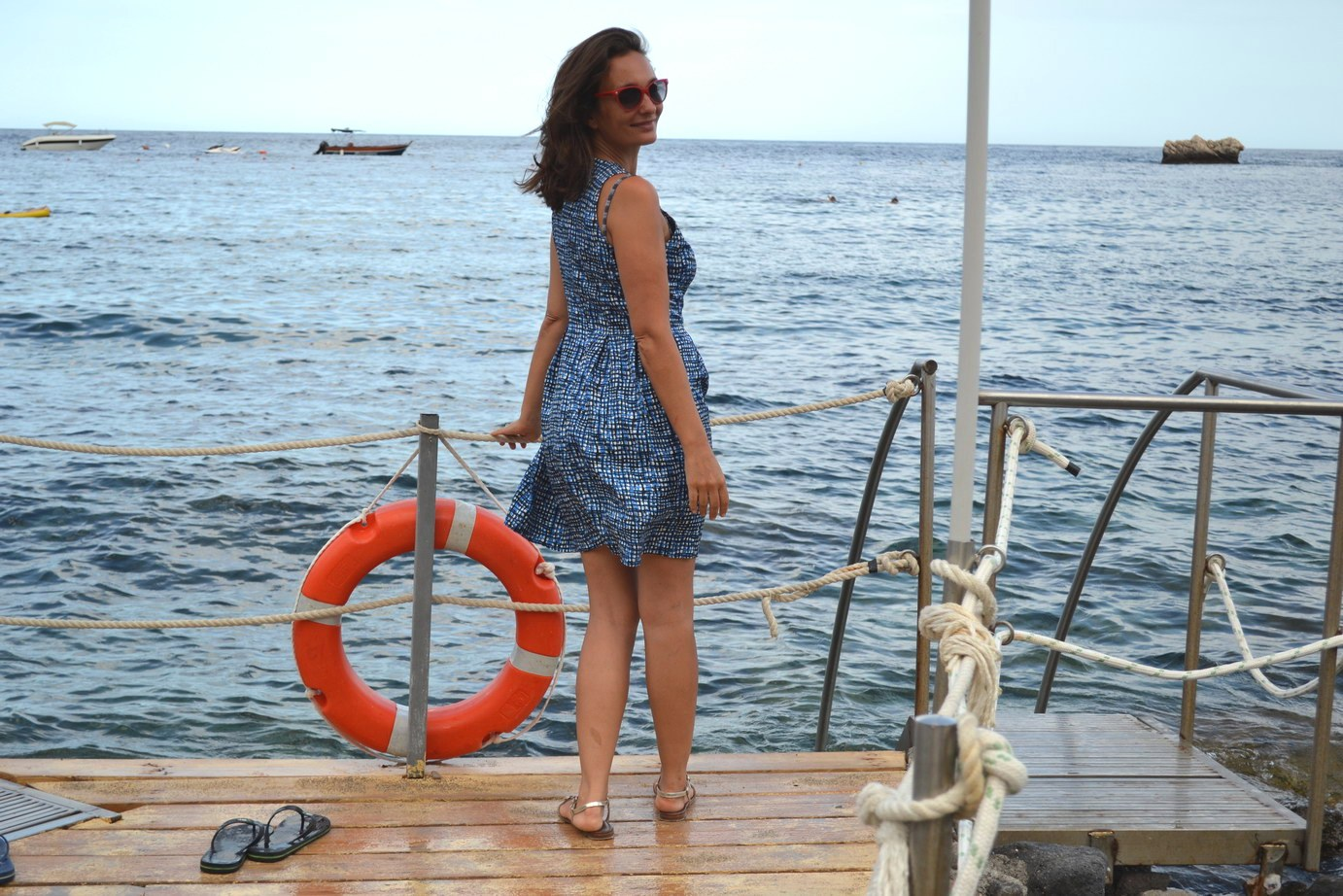 Taormina Sicily Stefanel Silk Dress