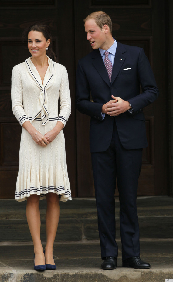 The Queen of Preppy, Kate Middleton, in a sailor Alexander McQueen dress at Wimbledon 2012