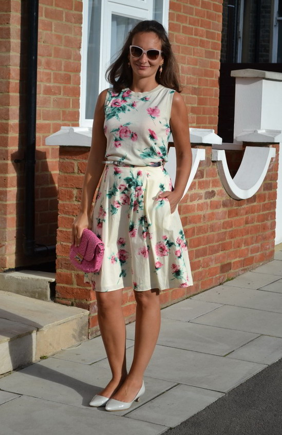 Max Mara Floral Skirt and top.