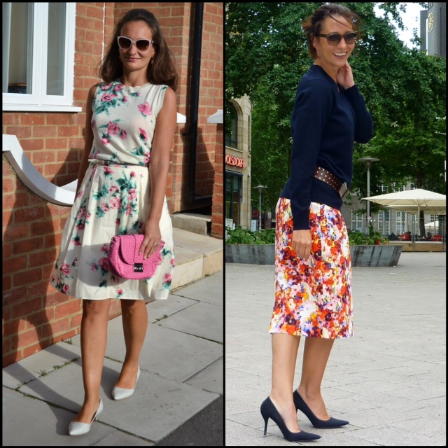 Floral prints fashion sisters