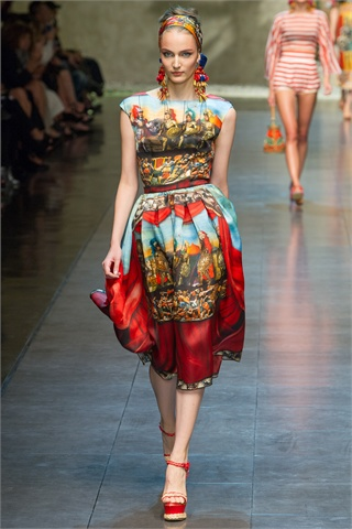 Dolce and Gabbana honoured the Sicilian marionettes in their SS2013 collection.