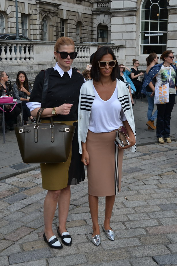 London Fashion Week Sept 2014 street style colourblock wearable chic