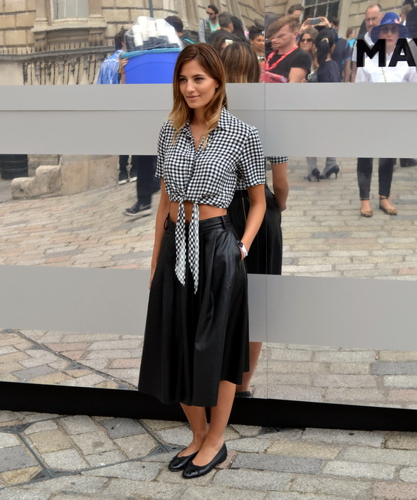 London Fashion Week Sept Street style Gingham