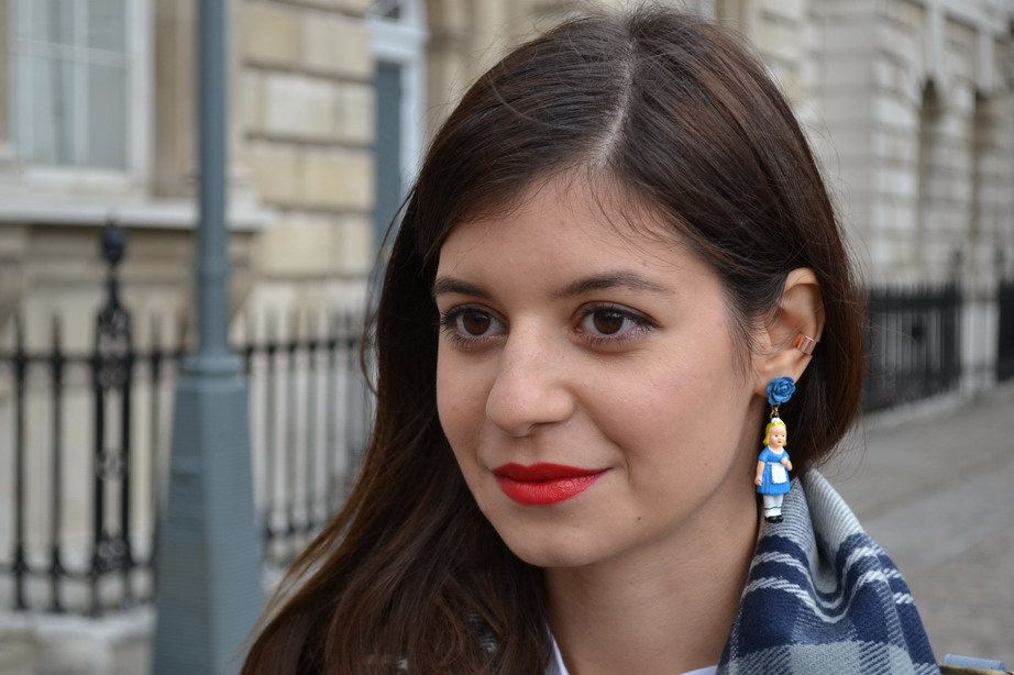 London Fashion Week Sept 2014 street style Les nereides alice earrings