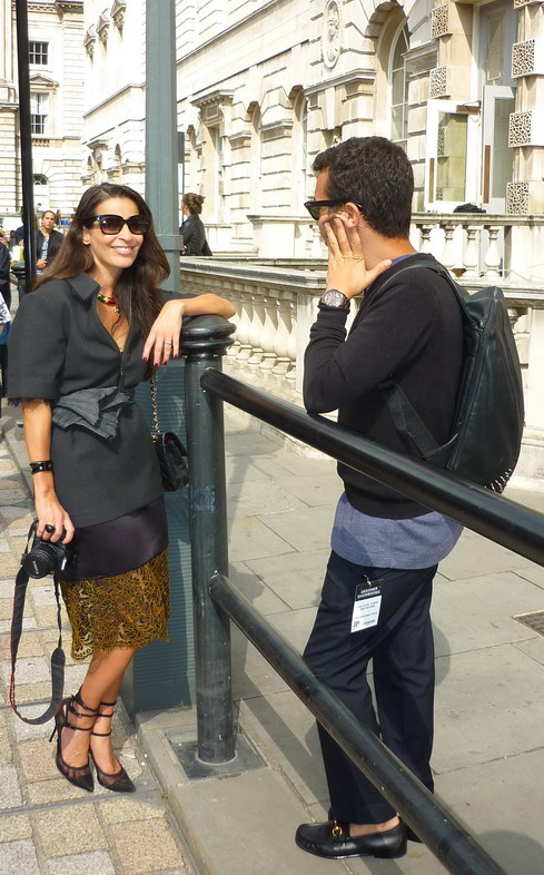 London Fashion Week Sept 2014 street style Parisienne