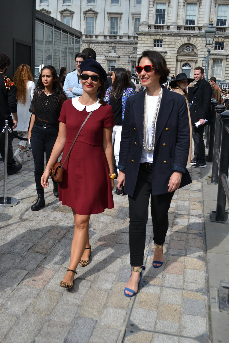 London Fashion Week september 2014 Streetstyle Romantique and Rebel