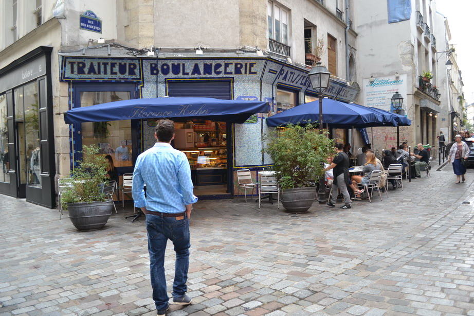 Caption pic with Brad: Le Marais features Jewish food from Eastern Europe, North Africa and the Middle East