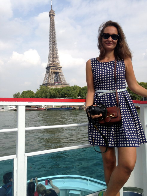 One of the best views of the Eiffel tower is from the boat