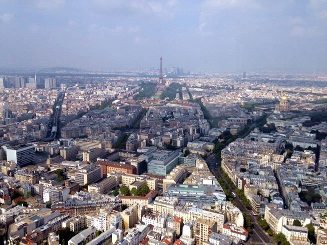 Paris from Montparnasse Tower - Romantique