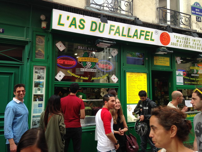 L'as du fallafel in Rue Rosiers, Le Marais