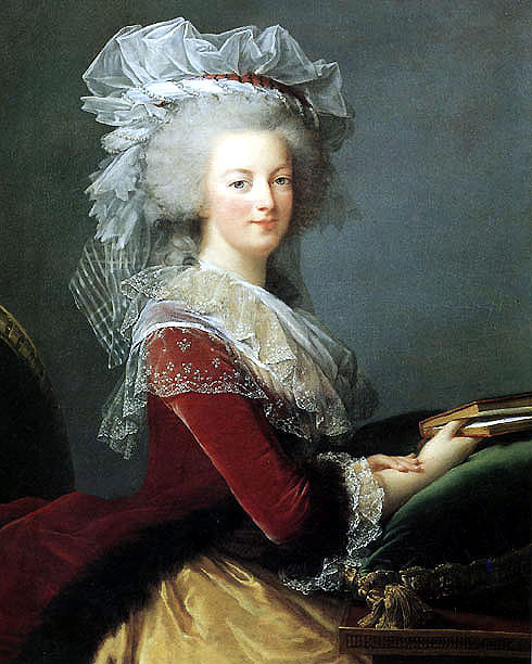 Marie-Antoinette in her puce dress