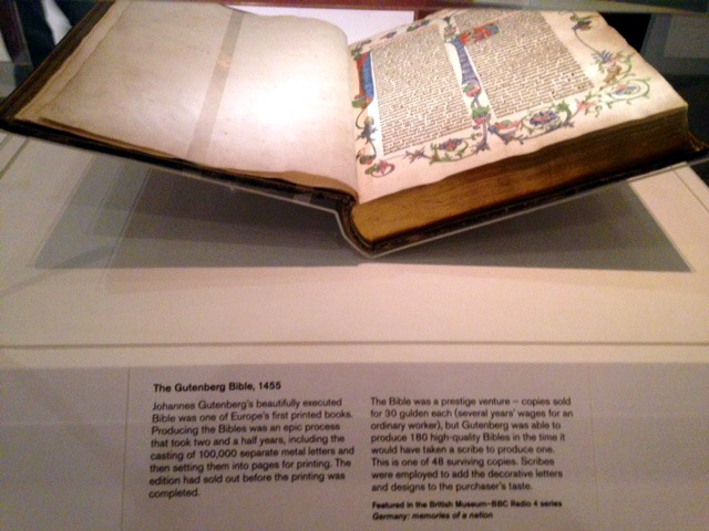 Germany memories of a nation Gutenberg Bible