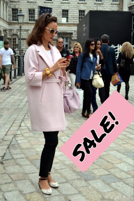 My pink coat I wore at LFW in September last year is now on sale!