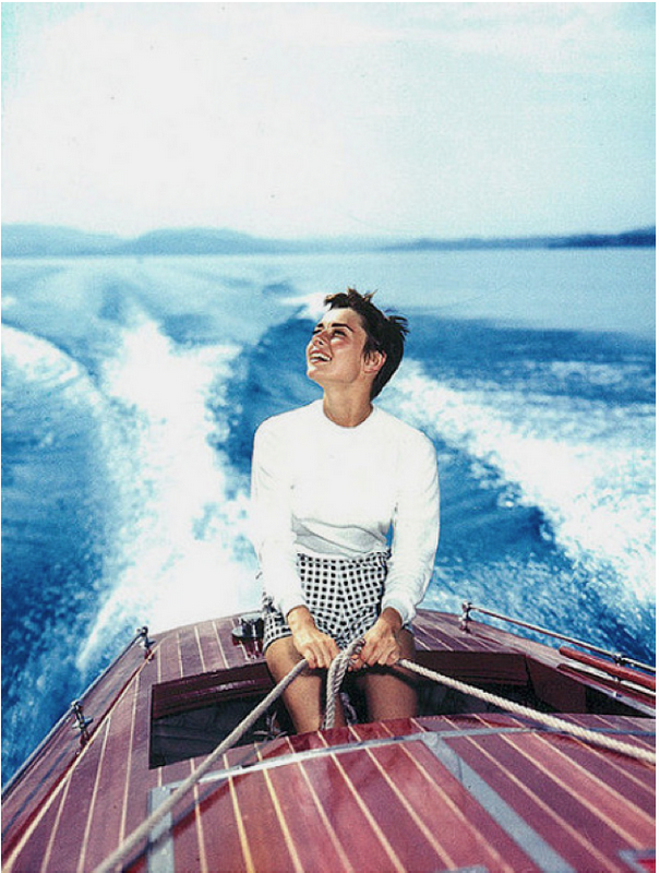 Audrey Hepburn Switzerland by Hans Gerber