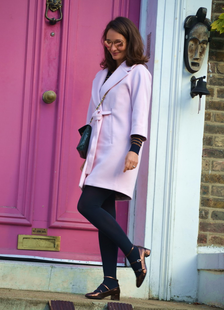 SAint Laurent Babies Mary Janes street style Notting Hill