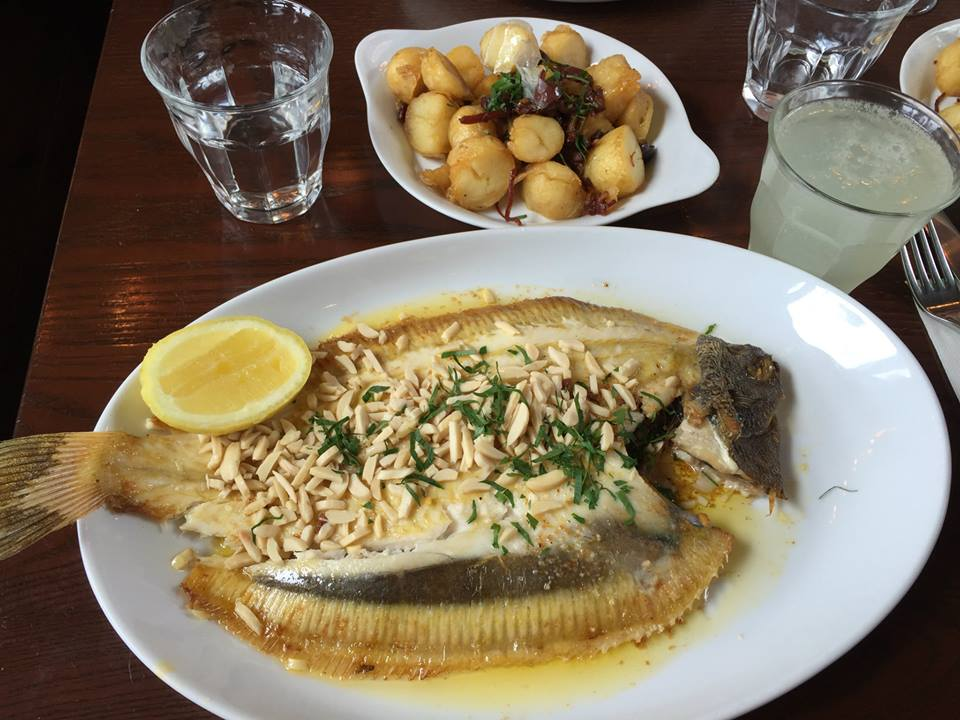 My recommendation at the Pantry: Grilled Whole Lemon Sole Almondine w/ almonds & brown butter