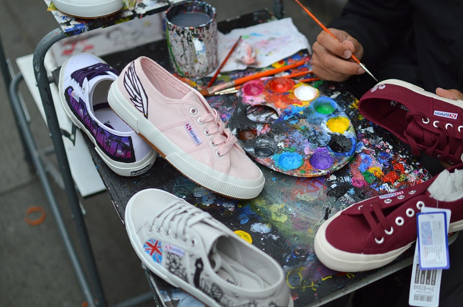 You can get your Supergas personalised at the Superga shop in Camden, London.