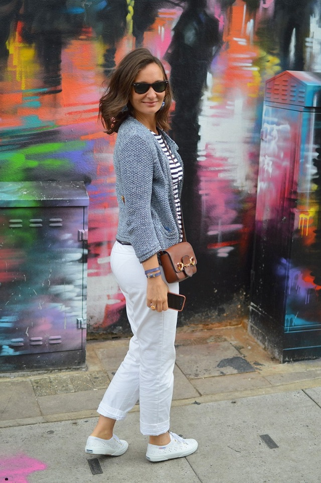 Superga white broderie anglaise Camden street style