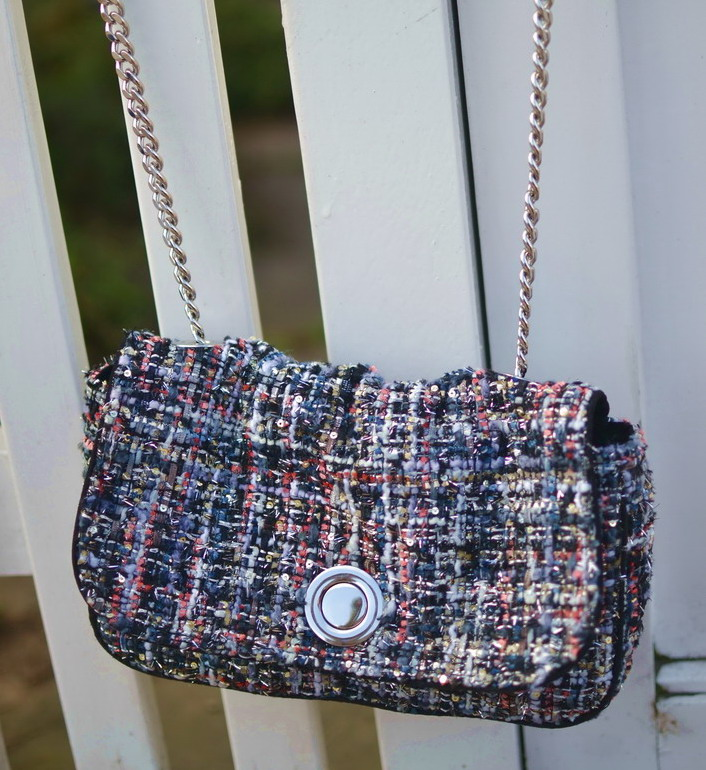 Zara tweed chanel handbag boucle
