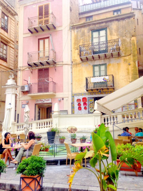 Little square in Cefalu
