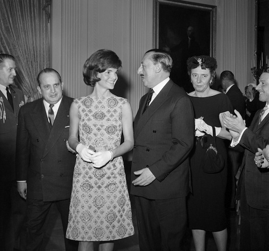 Jackie Kennedy printed shift dress