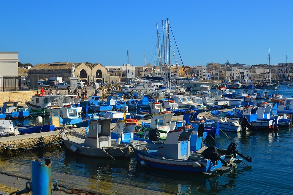 The port at Favignana
