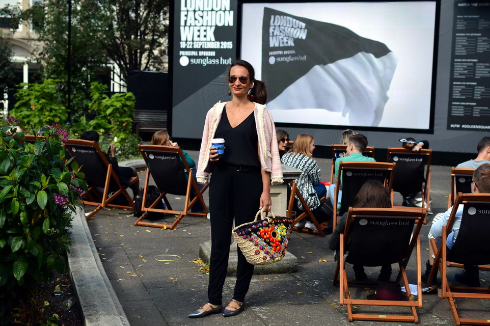London Street Style Fashion Week September 2015 Golden Square