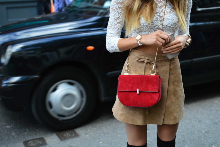 Chloe Drew bag, suede and lace.
