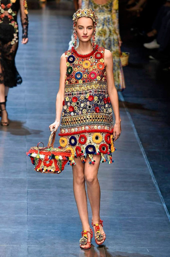 Pom Pom Dress Dolce Gabbana SS2016 summer collection