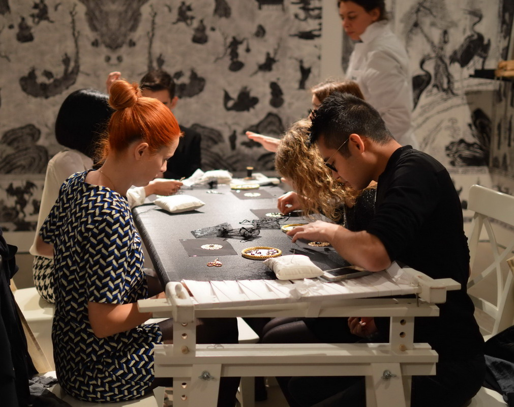 Chanel Lemarie workshop Saatchi Gallery Oct 2015