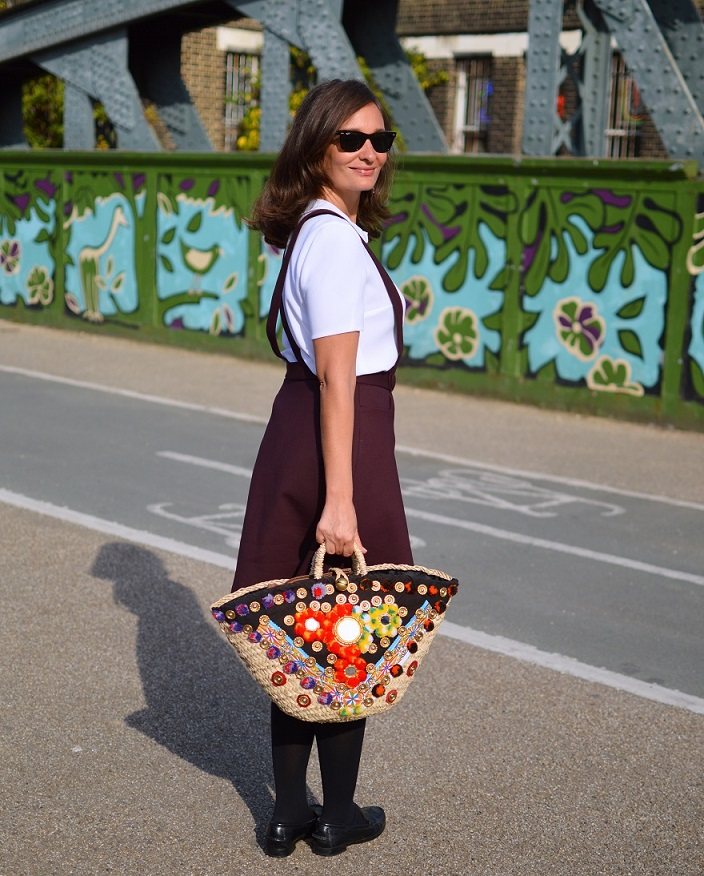 London Street Style Sicily Bag Claudie Pierlot skirt