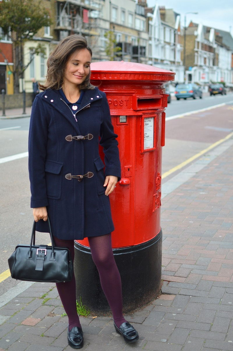 Romantique navy blue duffle coat bogner london