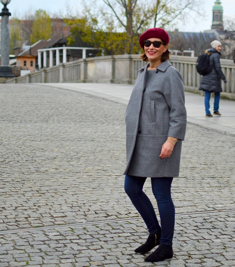 Rebel Berlin Street Style Egg Shape Coat