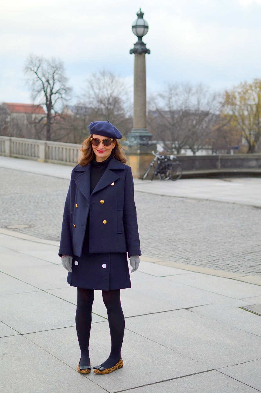 Berlin Street style caban jacket pea coat