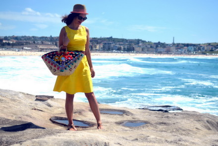 Bondi Beach Straw Coffa Bag
