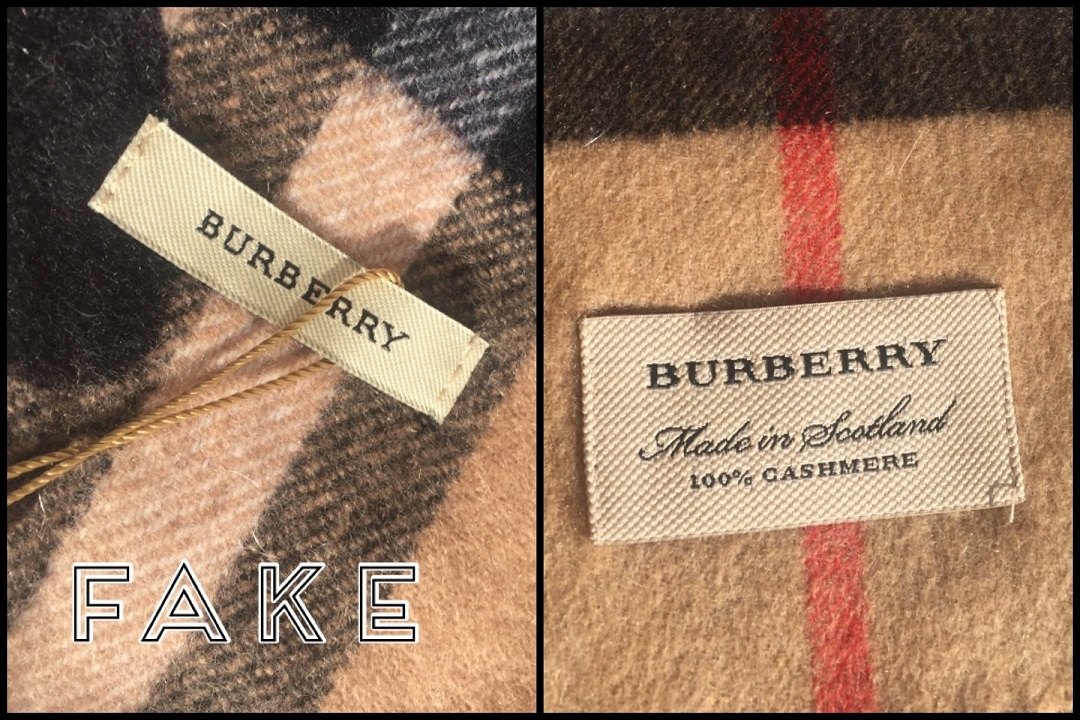 fake and genuine burberry scarf